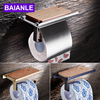 Free Shipping Wholesale And Retail Copper Toilet Roll Paper Rack Wiht Phone Shelf Wall Mounted Bathroom