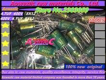 Aoweziic {100 STÜCKE} (6,3 V 1000 UF 8x12 1000 UF 6,3 V 8*12) (400 V 4,7 UF 8x12 4,7 UF 400 V 8*12) (35 V 330 UF 8x16 330 UF 35 V)