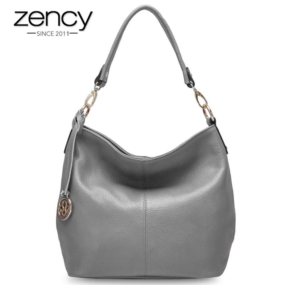 Zency 5 Colors Summer New Arrivals 100% Genuine Leather Fashion Women Shoulder Bag High Quality Female Messenger Crossbody