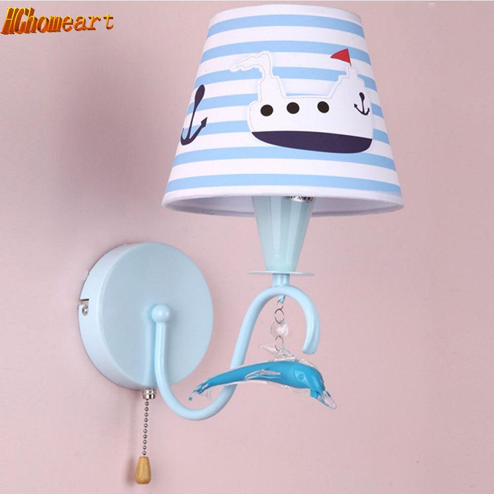 Modern cute cartoon wall lamp LED night light children's room access loft lighting decoration wall bedside lamp