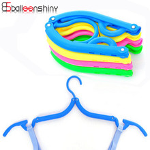 Plastic Folding Hangers With Hooks For Clothes Towel Organizer Laundry Hanger Rack Travel Outdoor And Home Wardrobe Storage Rack