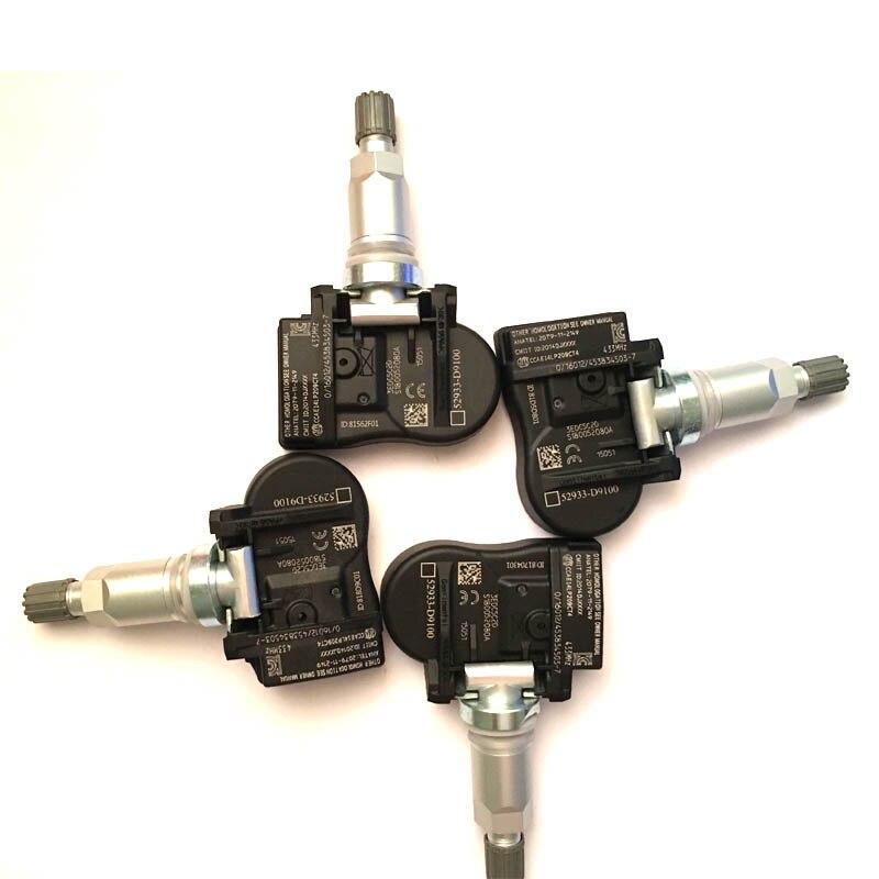 4pcs TPMS 52933D9100 52934D9100 For Kia Sportage QL 2016 K7 2016 CADENZA Tire Pressure Monitor Sensor
