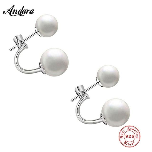 Doppel perlen ohrringe nickelfrei