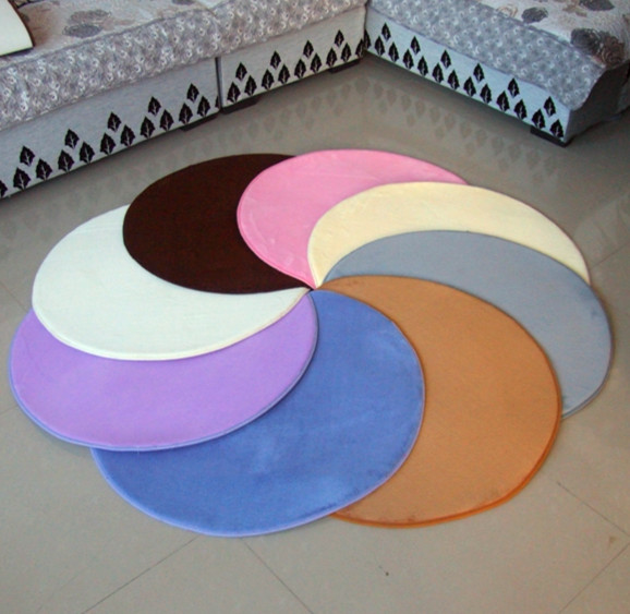 Coral Fleece Circle Mats Circle Carpet Stool Pad Small