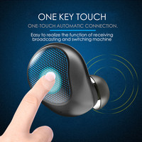 OwnFone T10 Single Ear Bluetooth Wireless Headset With Charging Compartment In ear Business Mini Touch Single Ear
