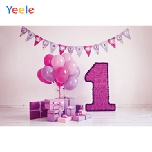 Yeele 1st Birthday Photocall Gifts Balloons Flowers Photography Backdrops Personalized Photographic Backgrounds For Photo Studio