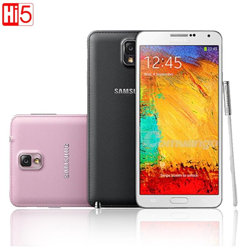 Sbloccato Samsung Galaxy Note III N9005 Telefono LTE WCDMA Quad Core 3g di RAM 16g ROM 1080 p 13.0MP quad core 5.7 ''Schermo nota 3