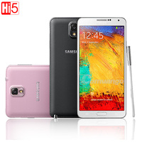 Unlocked Samsung Galaxy Note III N9005 Phone LTE WCDMA Quad Core 3G RAM 16G ROM 1080P 13.0MP Quad core 5.7'' Screen note 3