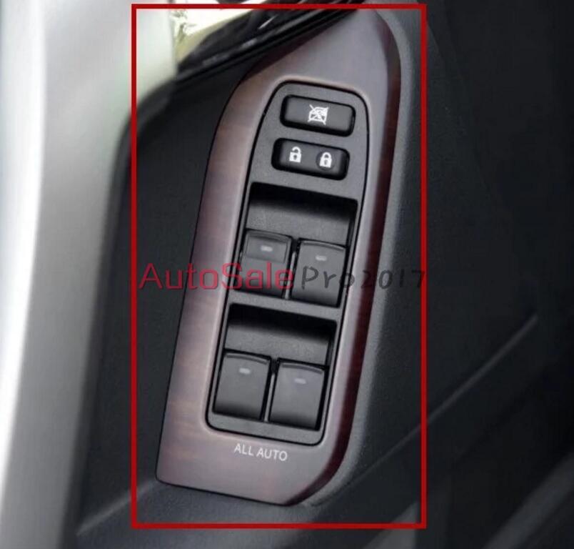 Texture de style automobile des pêchers texture de peac intérieur garniture de couverture Chrome pour Toyota Prado FJ150 FJ 150 2010-2014 2015 - 3