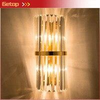 Post Modern Minimalist Creative Crystal Wall Lamp Bar Shop Luxury Villa Bedroom Bedside Nordic Wall Lamp