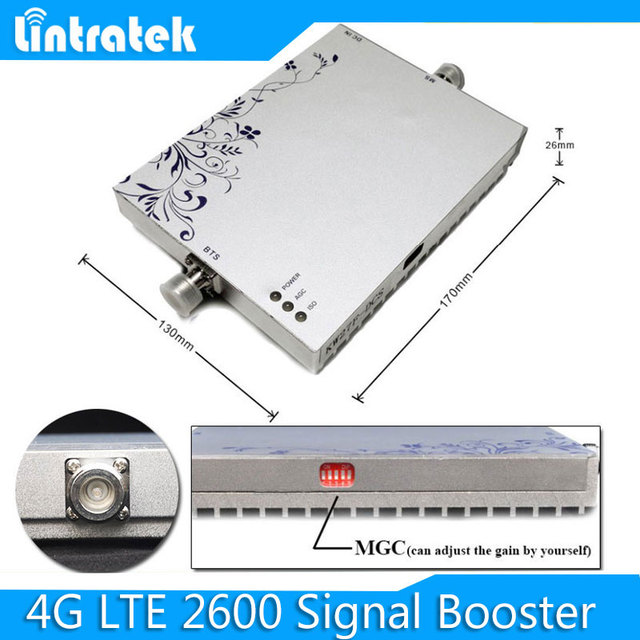 Free shipping 4G LTE 2600MHZ Mobile Phone Signal Booster 4G LTE Signal Repeater Coverage 300 Square Cell Phone Amplifier