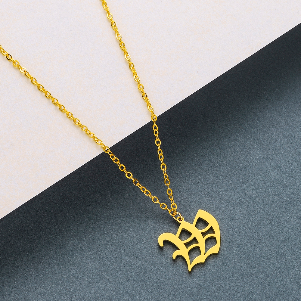 Todorova Old English Custom Capital Initial A-Z Letter Pendant Necklace Men Vintage Font Personalized Necklace Women Jewelry 67