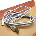 1.5M Micro USB Charger Charging Sync Data Transfer Cable For Mobile Phone Silver