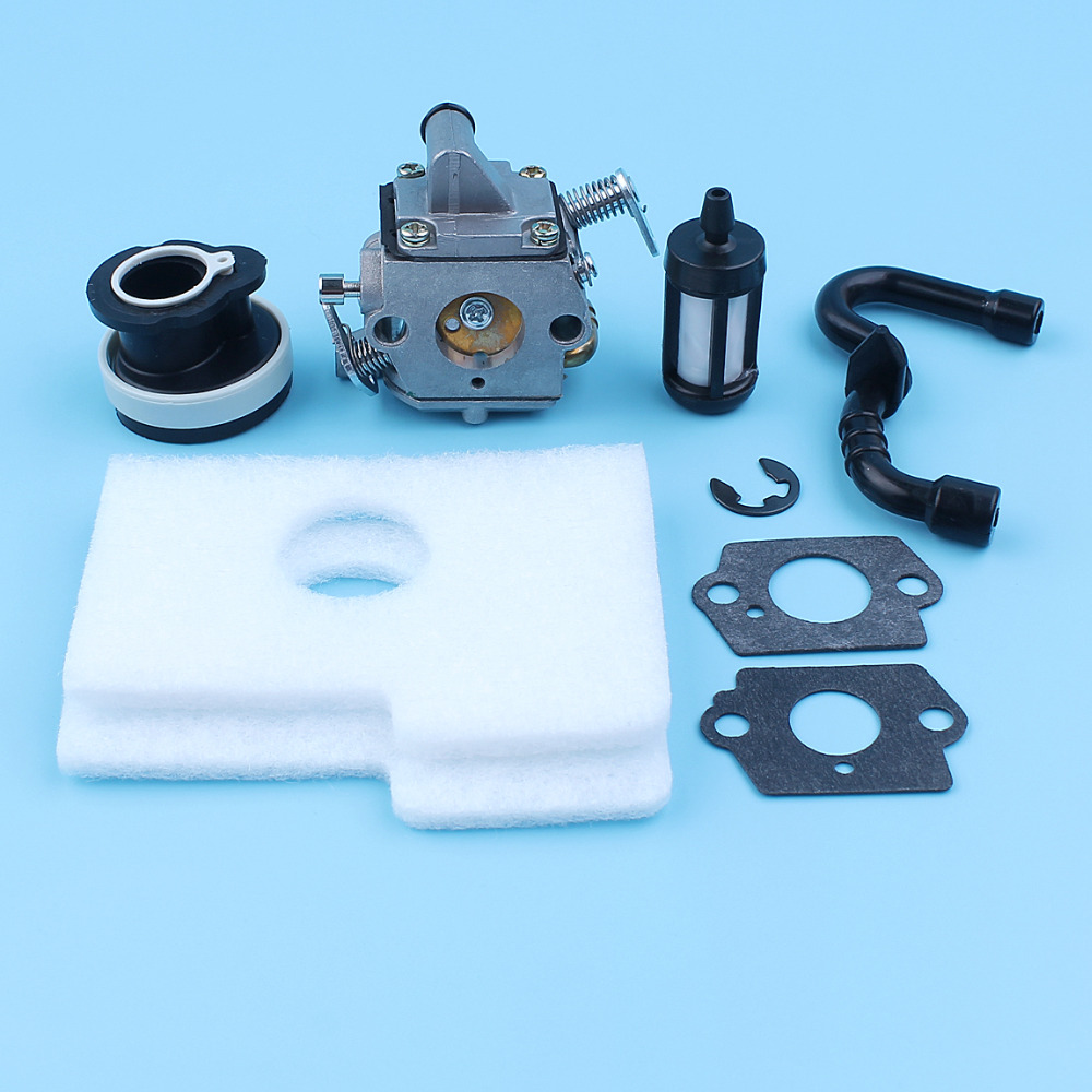 Carburetor Carb Intake Manifold Fuel Line Air Filter Kit For Stihl 017 018 MS170 MS180 MS 170 180 Chainsaw Gaskets
