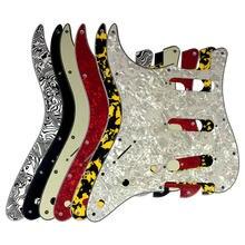 Peças de guitarra pleroo-para eua/méxico canhoto 72 11 11 parafuso buraco strat sss pickguard placa de risco, escolha multicolorido
