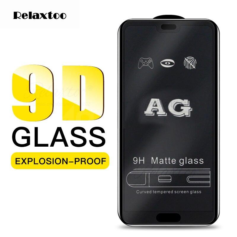 Verre trempé mat pour Huawei Honor 8X 8C 8 S 8A Pro protecteur d'écran givré huawey Y5 Y6 Y7 Pro Y9 Prime 2019 Film de protection