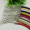DIY 50cm Metal Silver Chain Replacement Bag Straps 18 Colors PU Leather Purse Handles for Small Handbags, Bags Accessories