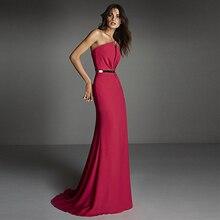 Verngo 2019 Red Evening Dress In Satin Gown Elegant Formal Custom Made Party Vestidos De Fiesta Noche