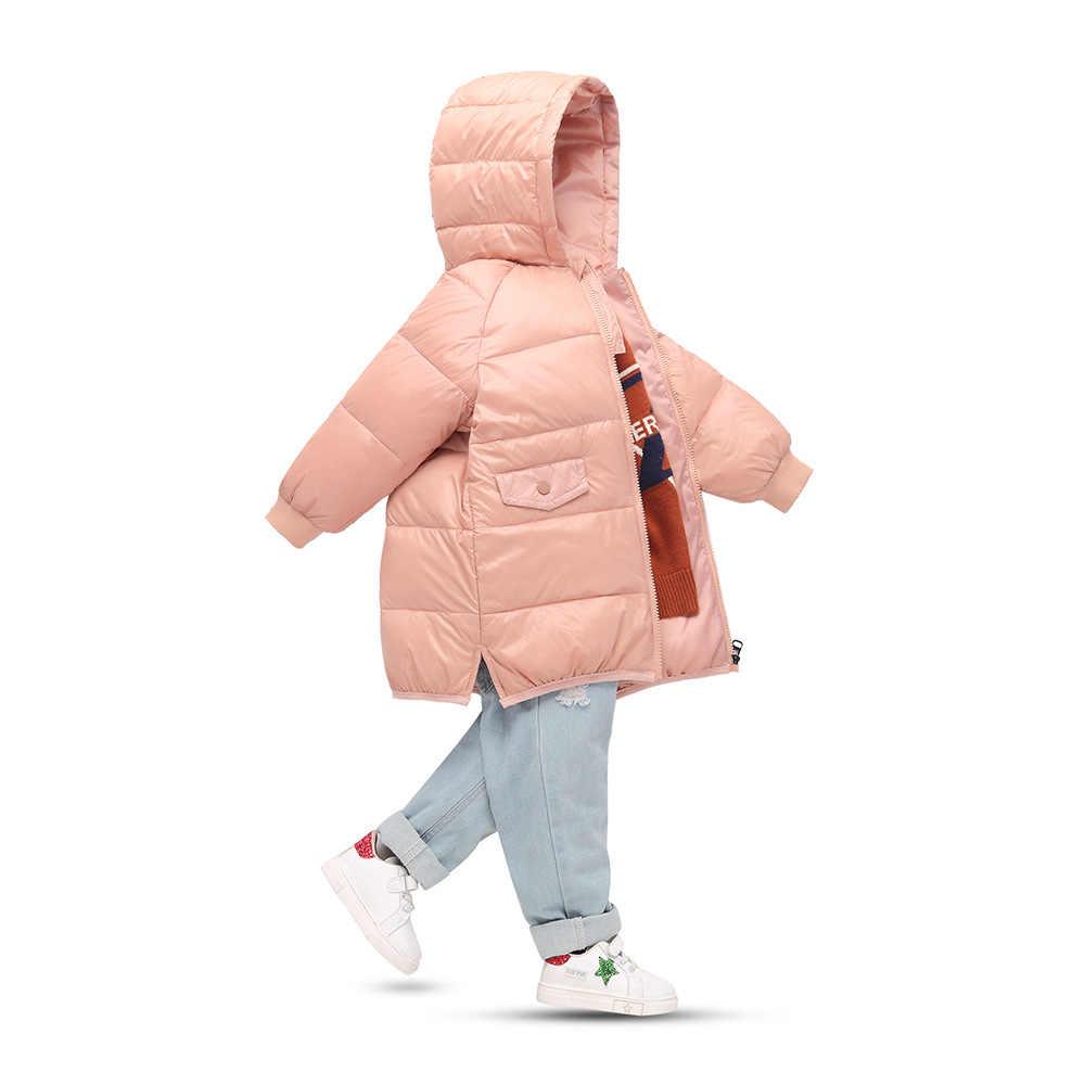 חורף לבן ברווז למטה מעיל לילדים בנות בני ארוך חם סלעית מעילים מקרית ילדים הלבשה עליונה פעוט בנות חורף בגדים