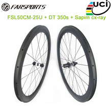 FAR carbon road wheelsets 50mm deep 25mm wide with DT 350s sp hub popular bicycle wheelsets