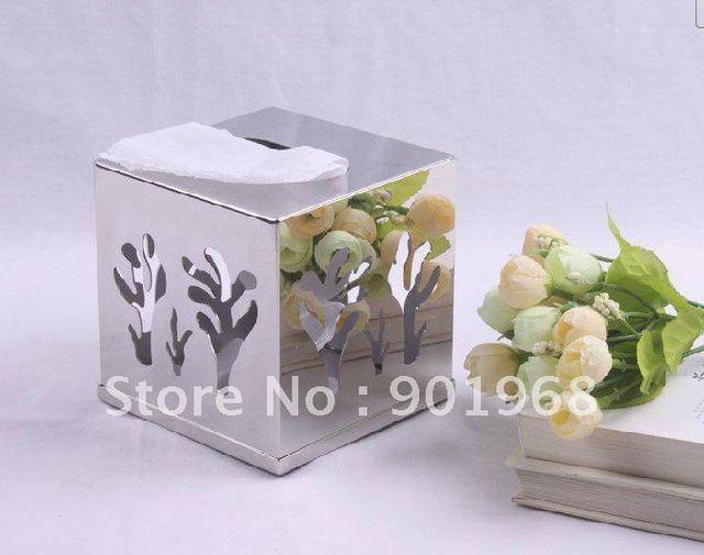 hotel room home office stainless steel tissue box-napkin box-paper box-tissue holder-napkin holder