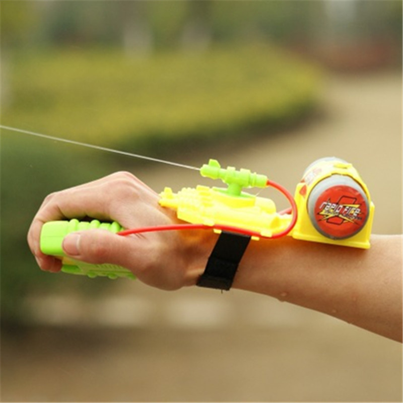Summer Kids Swimming Toys Water Hand-held Backpack Water Gun Wrist Spray Gun Outdoor Beach Toys For Children