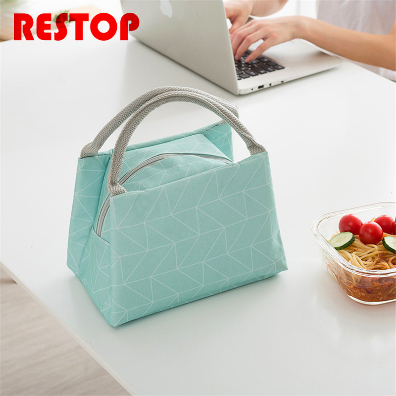 Brief Portable Waterproof Oxford Lunch Bag Thermal Food Picnic Lunch Bags for Women kids Men Cooler Lunch Box Bag Tote RES742