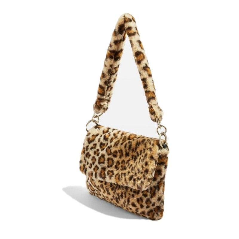 Saco de pele animal impressão leopardo saco