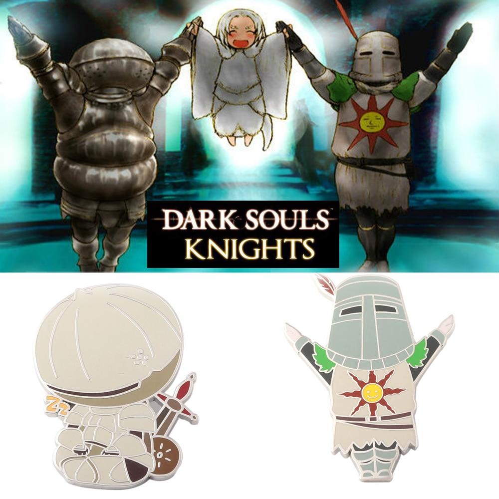 SG Hot Sale Game Dark Souls 3 Onion Knight Pachi Figure Enamel Brooches Pins Fire Keeper Teacup Head Pin Kids Men Lady Jewelry