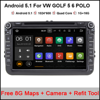 Free Shipping 8 Inch 2 DIN Capacitive Car DVD GPS VW GOLF 5 6 POLO JETTA