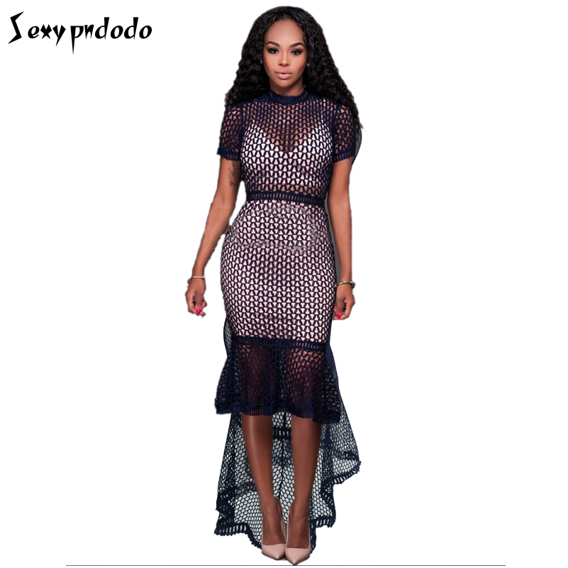 Lace Dress Short Sleeve Women Sexy Casual Dresses Party Night Club Autumn Bodycon Dress Plus Size Woman Clothing Online Shopping