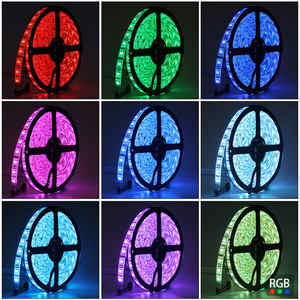 Image 4 - 5050 RGB LED Strip Waterproof  5M 300LED DC 12V LED Light Strips Flexible Neon Tape with Remote RGB controller and 3A 36W Power