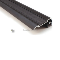 50 X 1M Sets Lot Stair Step Led Aluminium Profile And Black Led Extrusion Profile For