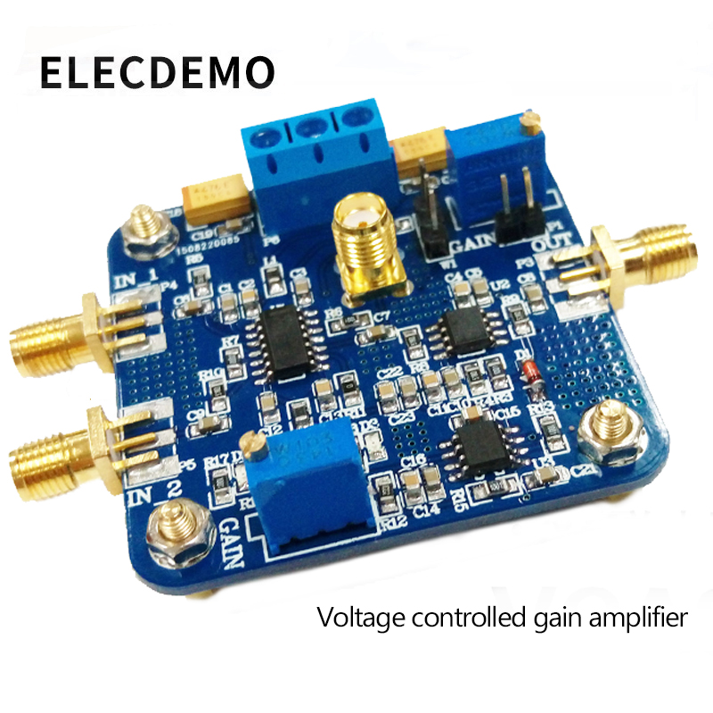 VCA821 Module Voltage Control Gain Amplifier AGC Electronic Race Module Authentic Guarantee 350M Bandwidth-in Demo Board Accessories from Computer & Office
