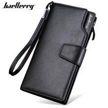 Baellerry 2017 Luxury Brand Men Wallets Long Men Purse Wallet Male Clutch Leather Zipper Wallet Men Business Male Wallet Coin