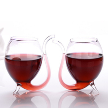 Aihogard 300ml 1PC Creative Vampire Devil Red Wine Glass Transparent Cup Mug With Built in Drinking Tube Straw Wholesale