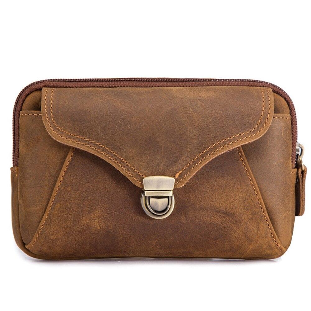 Поясная сумка для мужчин, забавные бедра из натуральной кожи, кошелек для телефона и карт, уличная Сумочка для мелочи