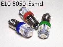 5PCS 24v E10 Instrument bulb 4.5v display width bulb reading light E10 12V License Plate 3V E10 warning bulb DC6V Signal light