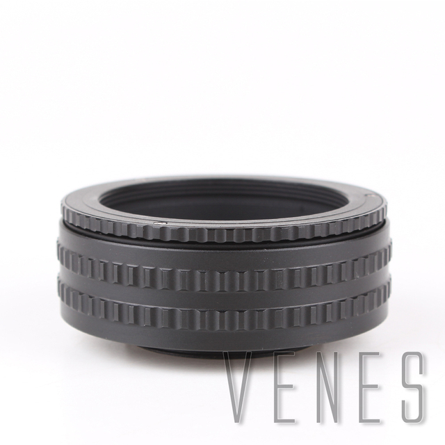 69ea163d0a VENES Macro Extension Tube M52 Lens to M42 Camera Adjustable Focusing  Helicoid Ring Adapter M52-M42