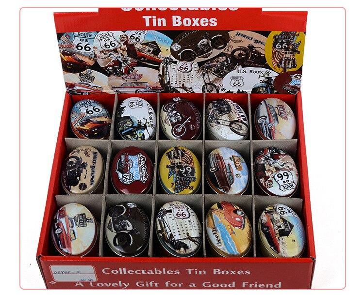 30pcs/lot Oval Tin Box Decorative Mini Storage Bin Wedding Gift For  Guest(China