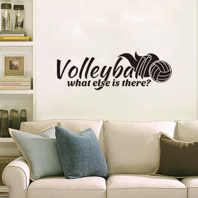 Volleyball Letter Wall Stickers Home Decor Living Toom Bedroom DIY Wall  Decals Removable Wall Sticker Decal