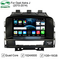 Quad Core Pure Android 5.1.1 Автомобильный DVD PC Video Player Для Opel Astra J С GPS Bluetooth DVR 4 Г Wi-Fi HD 1024*600 Pixel