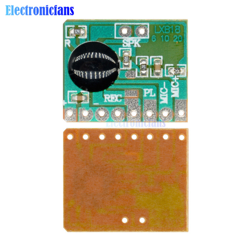 6secs 6S Sound Voice Audio Recordable Recorder Module Chip Programmable ISD1806B-COB Board 0.5W Speaker For Greeting Card