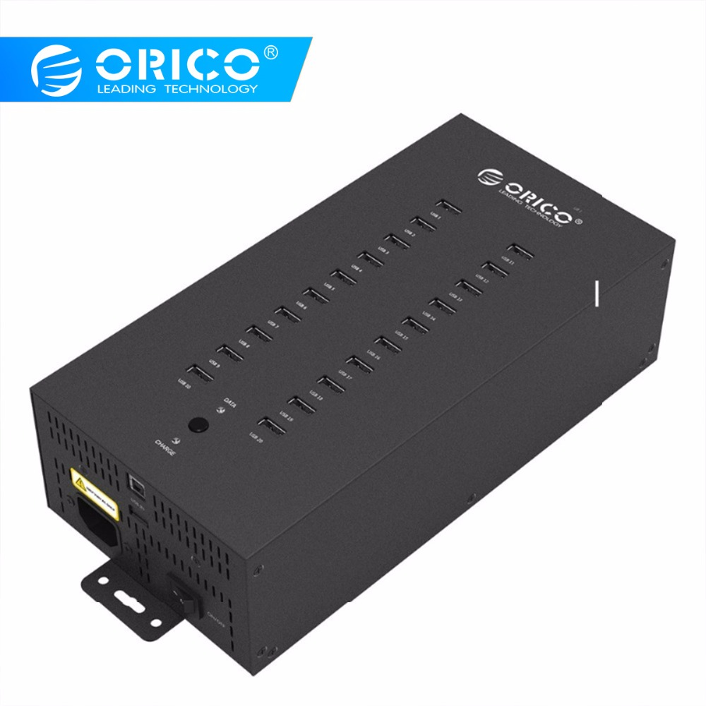 ORICO IH20P USB HUB 20 USB Ports Industrial USB2 0 HUB USB Splitter with 2 Models