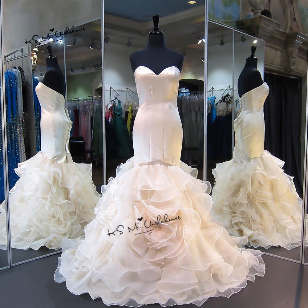 Wedding Gowns Plus Size Cheap: Champagne Wedding Dress Mermaid Cheap Wedding Gowns