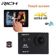 RICH Action Camera Ultra HD 4K Touch Screen WiFi 2.0″ 170D S35 Underwater Digital DV Waterproof Helmet Cam Mini Sport Camer