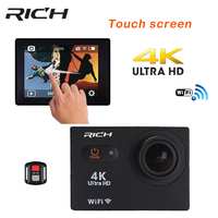 RICH Action Camera S350R Ultra HD 4K 25fps WiFi 2 0 170D Underwater Waterproof Helmet CAM