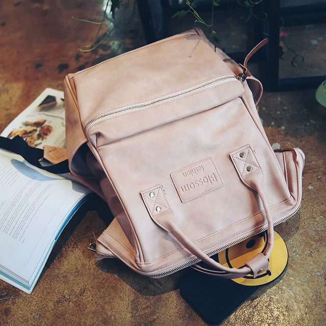 Fashion Women Leather Backpack Youth Korean Style Shoulder Bag 5