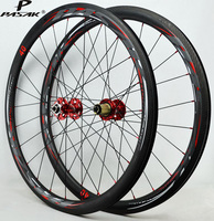700C Wheelset Road Bicycle Disc Brake Wheel Carbon Wheels Rims 40mm Depth Clincher Cycle XC Carbon Road Wheels 24 Hole 9mm QR