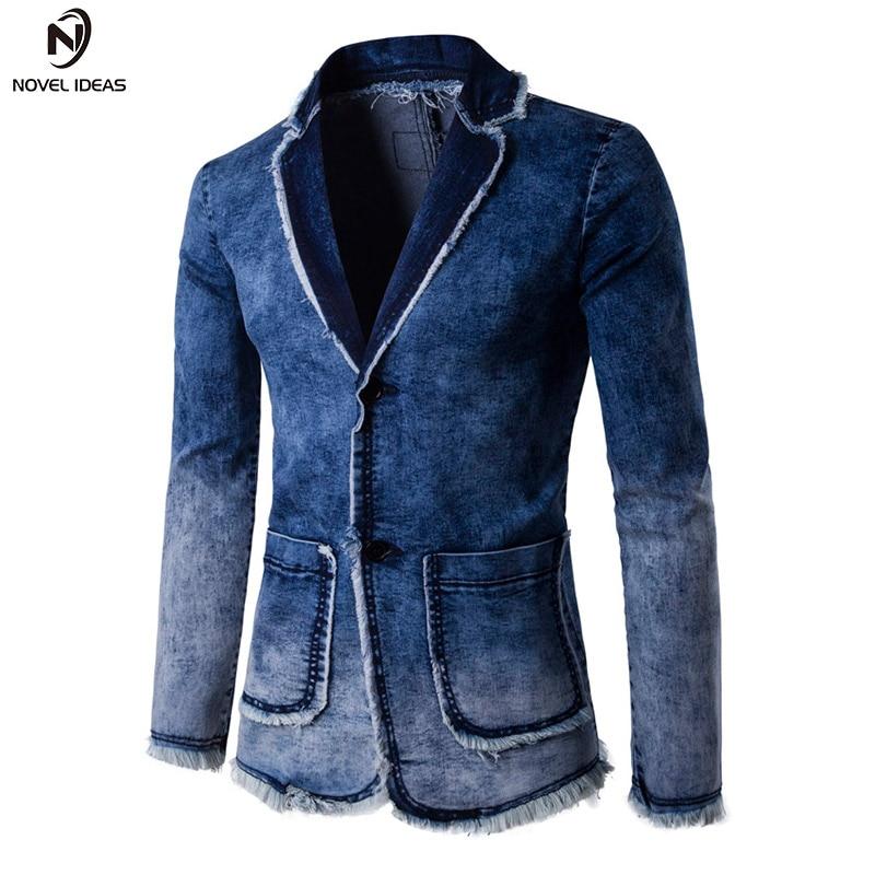Hot Sale Novel Ideas Men Jacket Fashion Blazer Denim Jacket 2018 Men